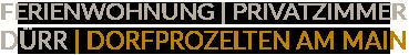 Ferienwohnung | Privatzimmer Dorfprozelten, Dürr Logo